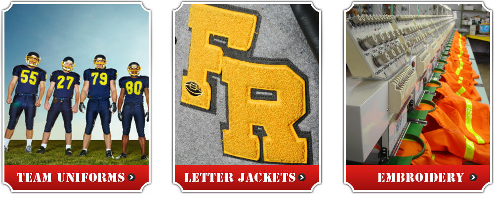 Team Uniforms, Letter Jackets, Embroidery